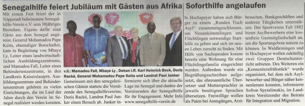presse 30jahre Senegalhilfe verein