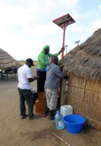 Solaranlage im Dorf von Mamadou