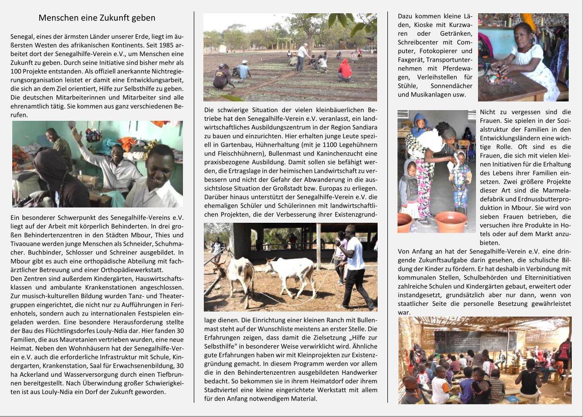 Flyer Senegalhilfe-Verein