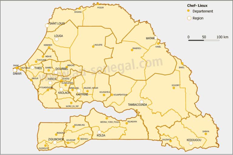 Senegal Verwaltung