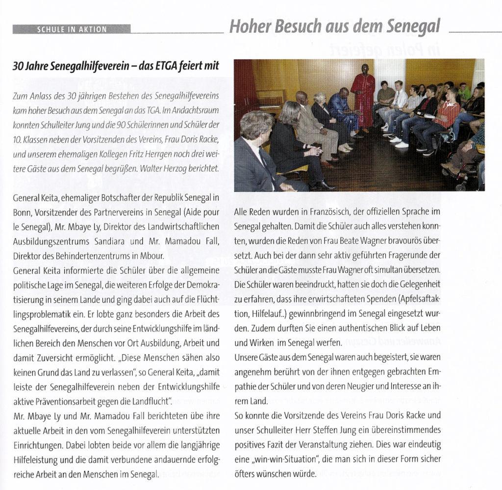 presse tga 30jahre Senegalhilfe verein