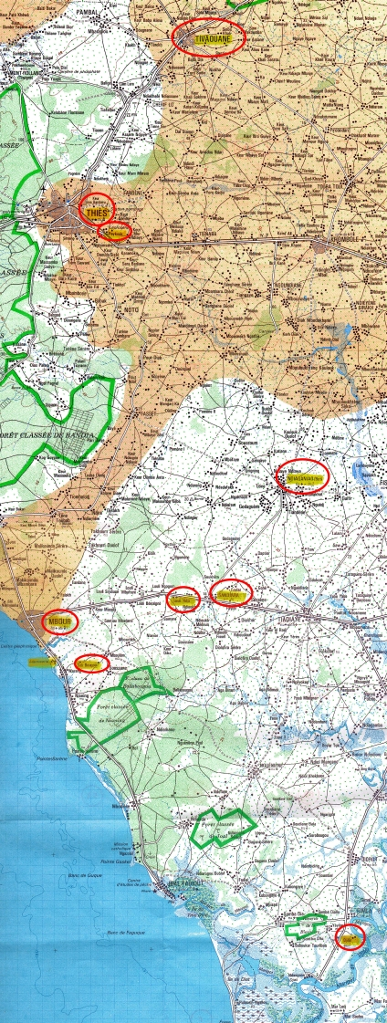 Standorte Senegalhilfe-Verein